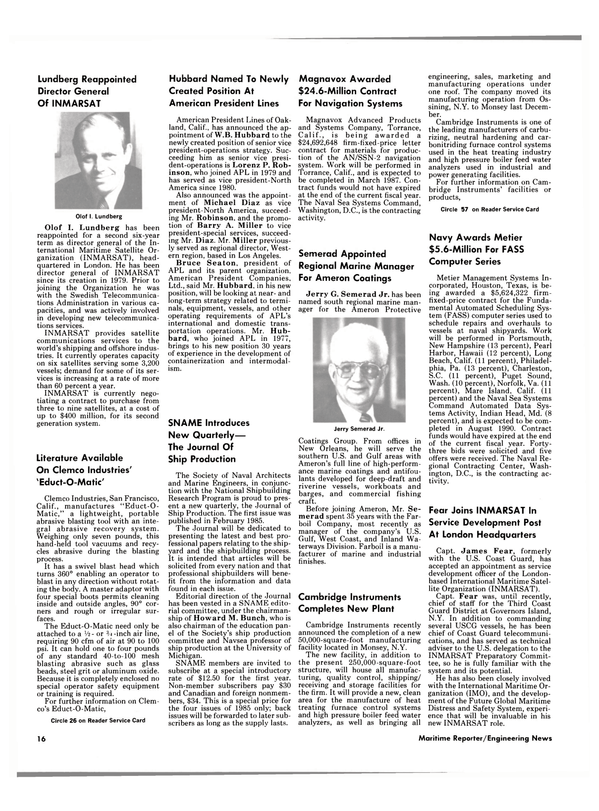 Maritime Reporter Magazine, page 14,  May 15, 1985 New Hampshire