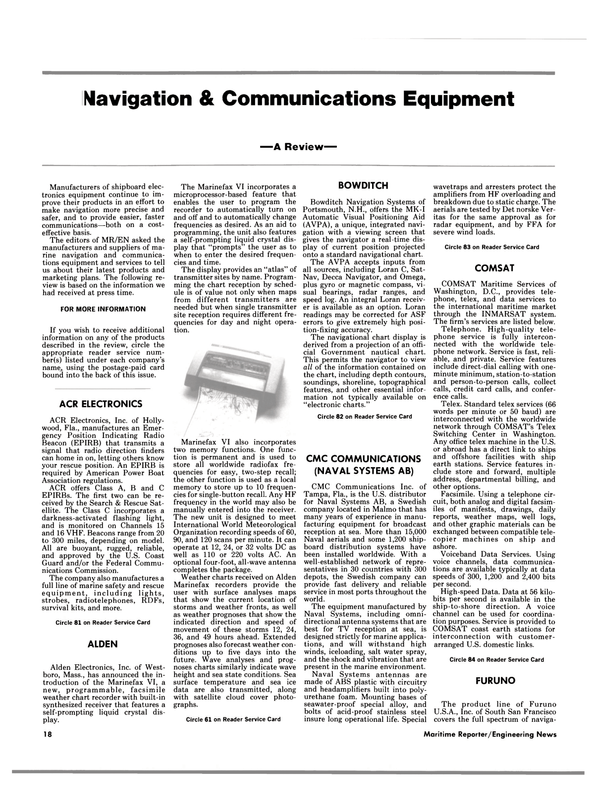 Maritime Reporter Magazine, page 16,  May 15, 1985 International World Meteorological Organization