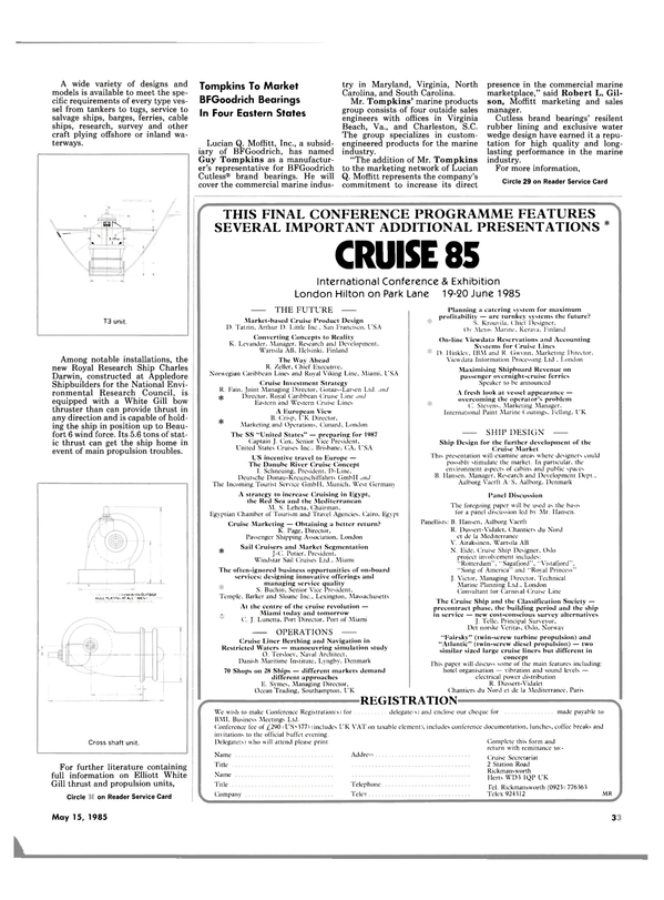 Maritime Reporter Magazine, page 33,  May 15, 1985 Massachusetts
