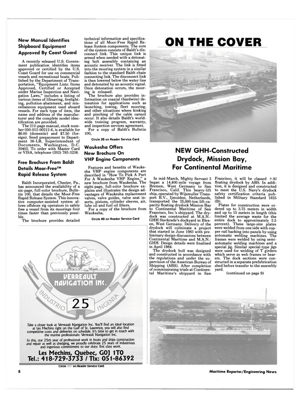 Maritime Reporter Magazine, page 6,  May 15, 1985