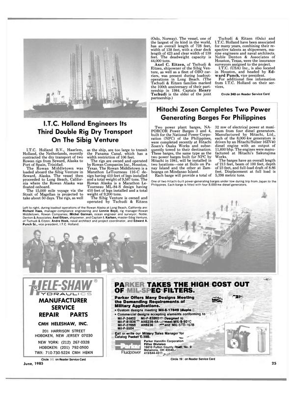 Maritime Reporter Magazine, page 23,  Jun 1985 Iloilo