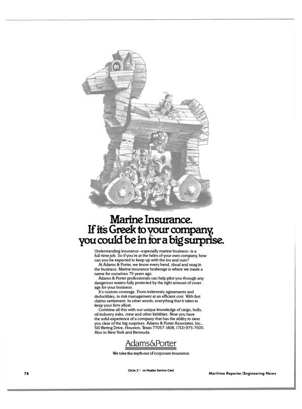 Maritime Reporter Magazine, page 80,  Jun 1985