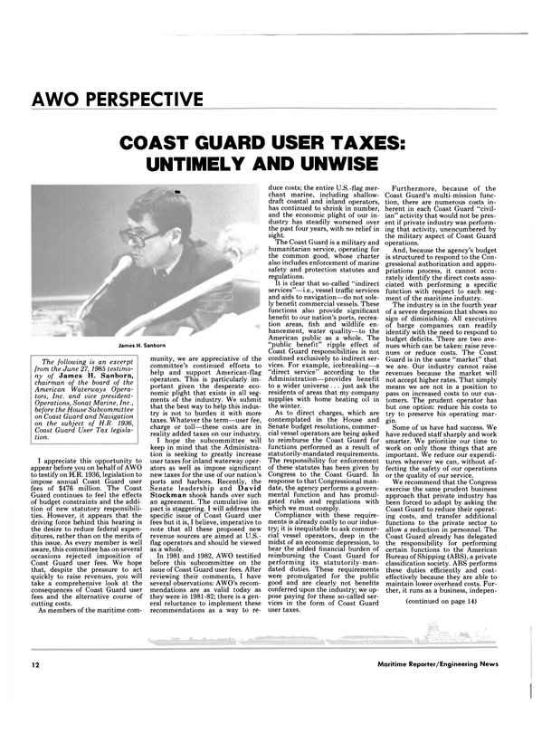 Maritime Reporter Magazine, page 8,  Aug 1985 indirect services
