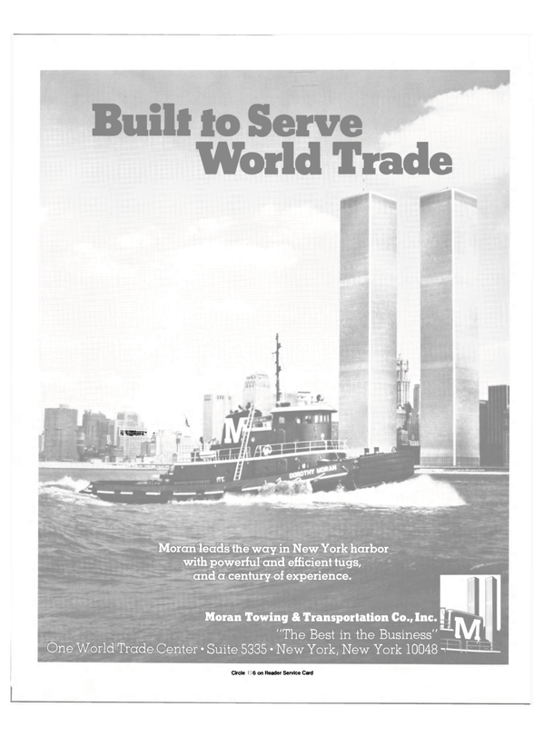 Maritime Reporter Magazine, page 11,  Aug 1985 World Trade Center