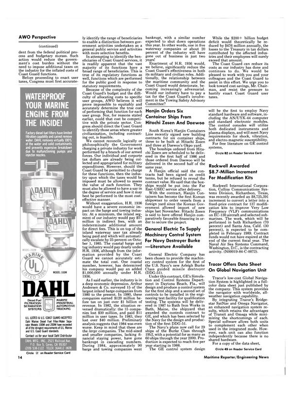 Maritime Reporter Magazine, page 12,  Aug 1985 Florida
