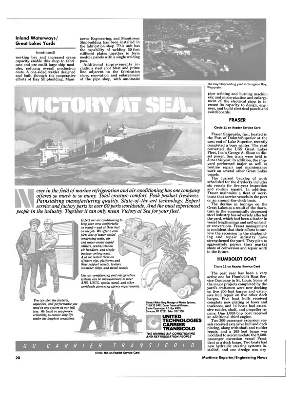 Maritime Reporter Magazine, page 18,  Aug 1985 Walter Berg