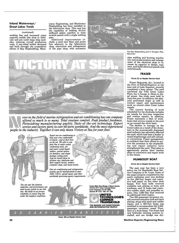Maritime Reporter Magazine, page 18,  Aug 1985