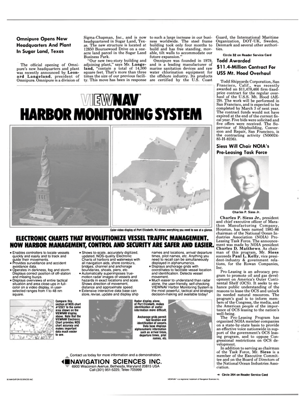 Maritime Reporter Magazine, page 26,  Aug 1985 Texas