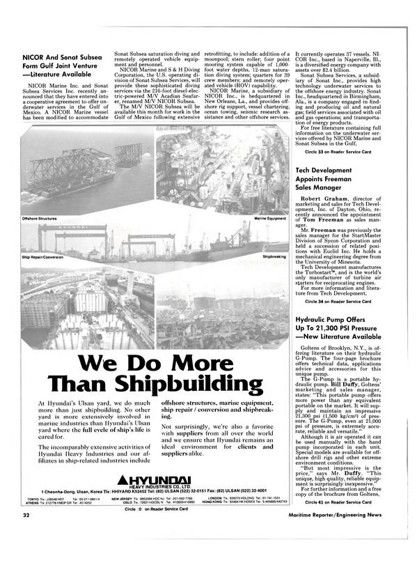 Maritime Reporter Magazine, page 32,  Aug 1985 Ohio
