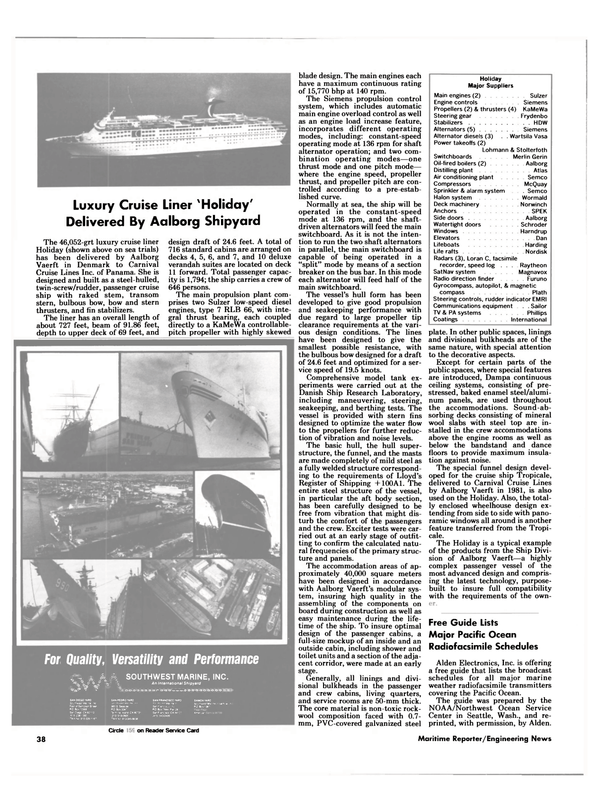 Maritime Reporter Magazine, page 40,  Aug 1985