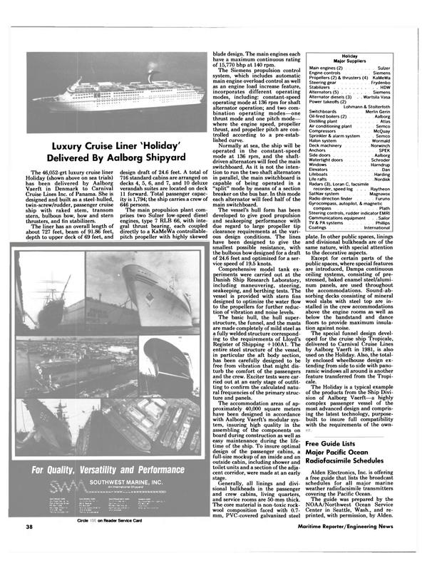 Maritime Reporter Magazine, page 40,  Aug 1985 Dan Lifeboats