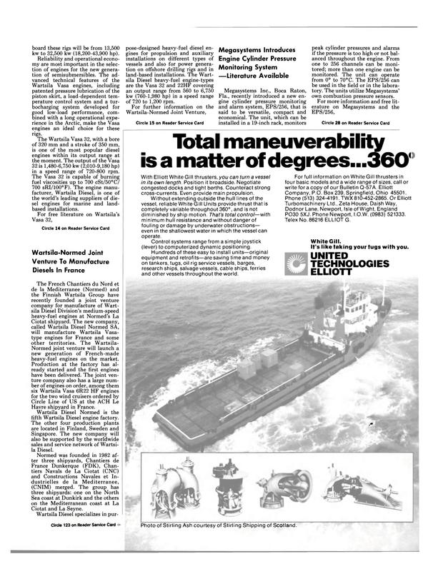 Maritime Reporter Magazine, page 11,  Aug 15, 1985 Florida