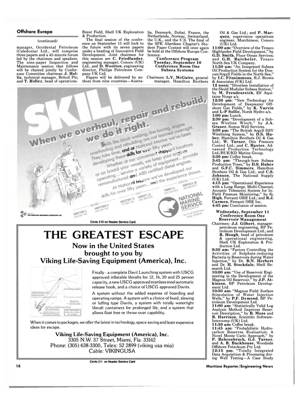 Maritime Reporter Magazine, page 16,  Aug 15, 1985