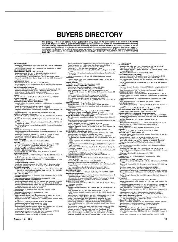 Maritime Reporter Magazine, page 37,  Aug 15, 1985 Montana
