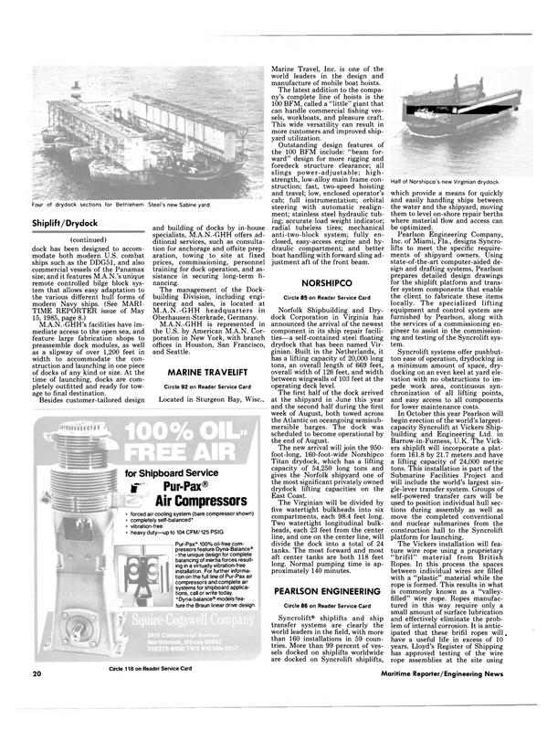 Maritime Reporter Magazine, page 20,  Sep 1985 Florida