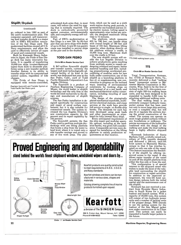 Maritime Reporter Magazine, page 22,  Sep 1985 New York