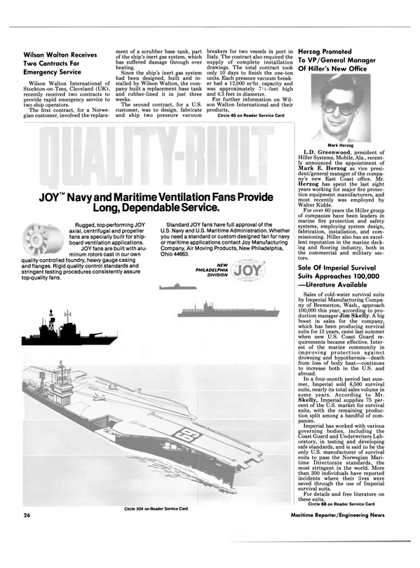 Maritime Reporter Magazine, page 26,  Sep 1985