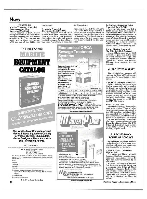 Maritime Reporter Magazine, page 34,  Sep 1985 Dick Lambert