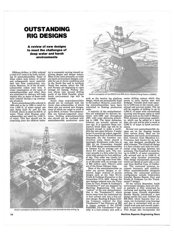Maritime Reporter Magazine, page 14,  Sep 15, 1985