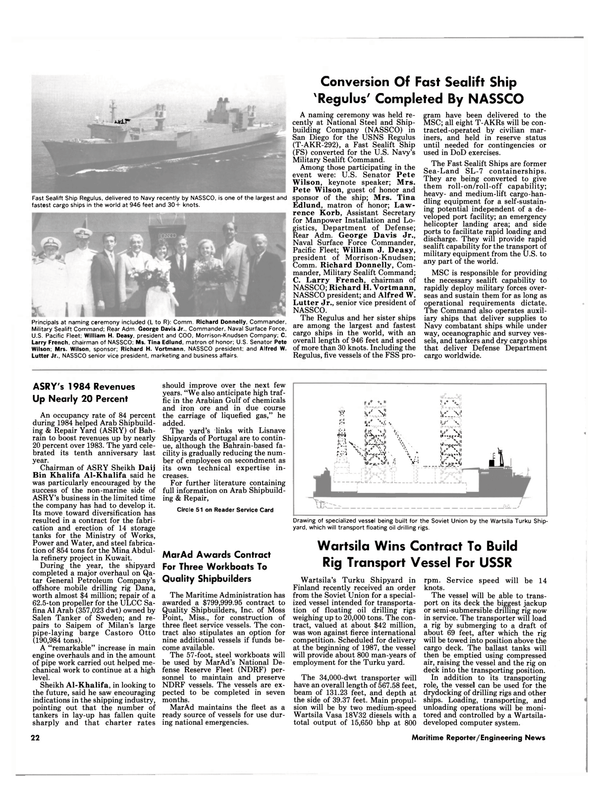 Maritime Reporter Magazine, page 20,  Sep 15, 1985 Korb