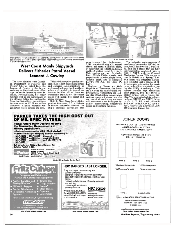 Maritime Reporter Magazine, page 32,  Sep 15, 1985