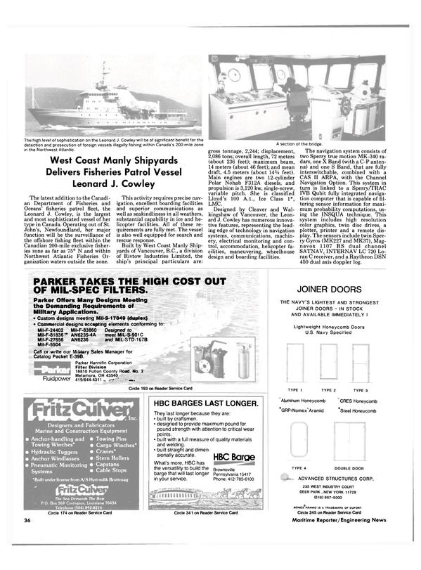 Maritime Reporter Magazine, page 32,  Sep 15, 1985 British Columbia