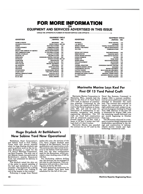 Maritime Reporter Magazine, page 36,  Sep 15, 1985 Maryland