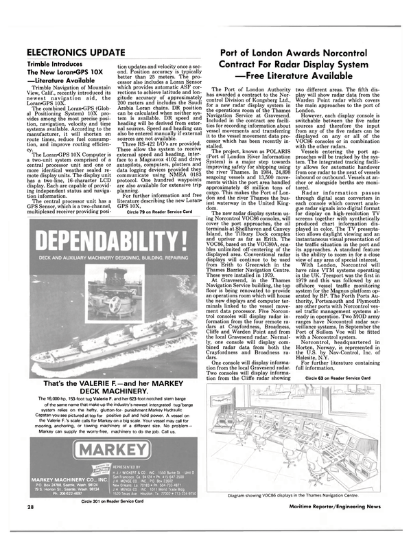 Maritime Reporter Magazine, page 26,  Oct 15, 1985 ment data processor