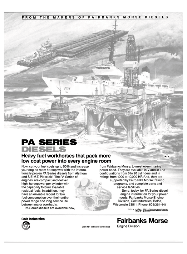 Maritime Reporter Magazine, page 29,  Oct 15, 1985