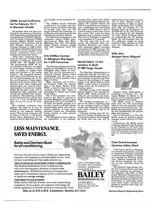 Maritime Reporter Magazine, page 4,  Oct 15, 1985