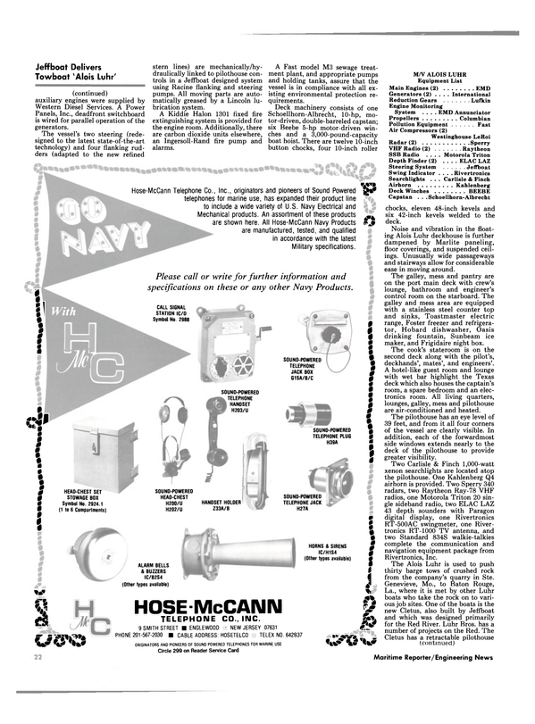 Maritime Reporter Magazine, page 20,  Nov 1985