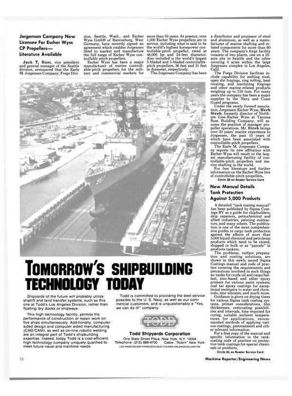 Maritime Reporter Magazine, page 26,  Nov 1985