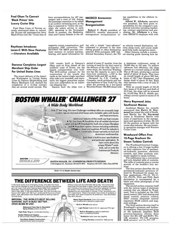 Maritime Reporter Magazine, page 32,  Nov 1985