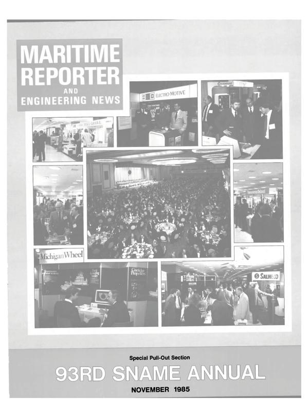 Maritime Reporter Magazine, page 41,  Nov 1985