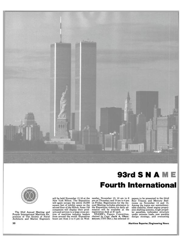 Maritime Reporter Magazine, page 44,  Nov 1985