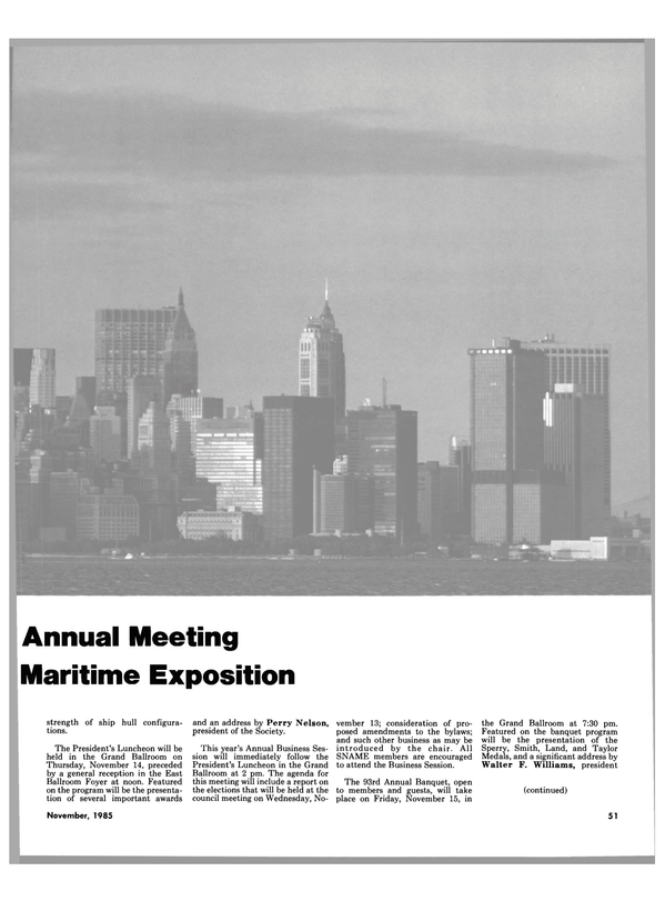 Maritime Reporter Magazine, page 45,  Nov 1985