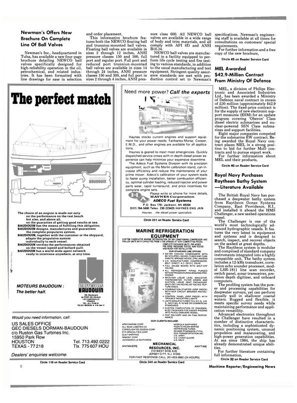Maritime Reporter Magazine, page 6,  Nov 1985