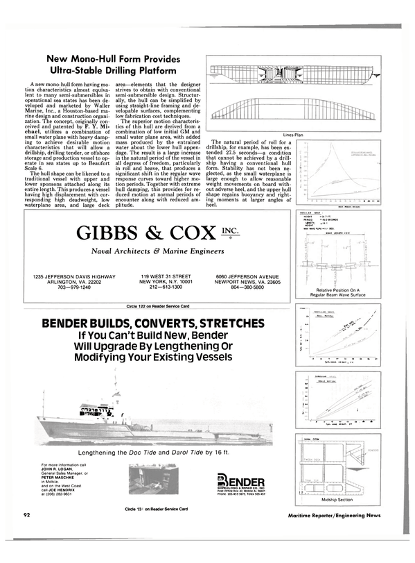 Maritime Reporter Magazine, page 86,  Nov 1985