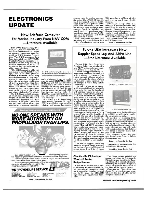 Maritime Reporter Magazine, page 10,  Dec 1985