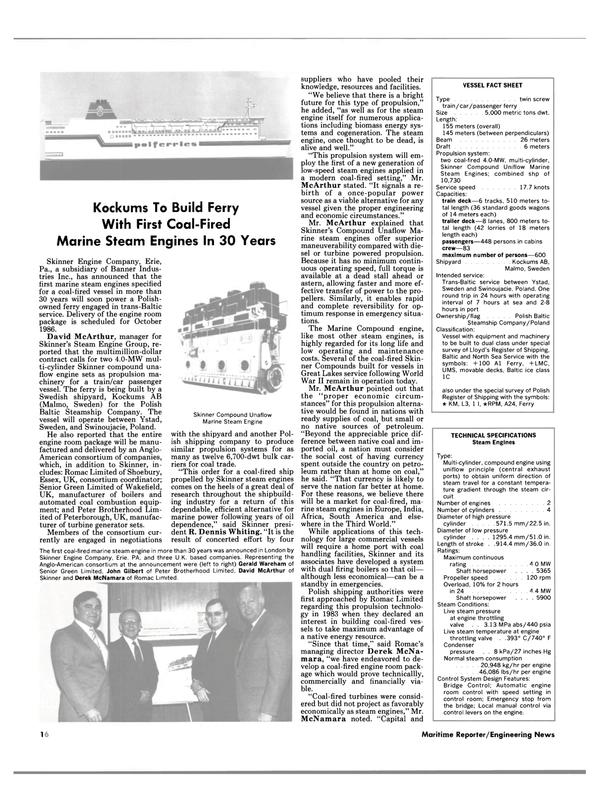Maritime Reporter Magazine, page 14,  Dec 1985