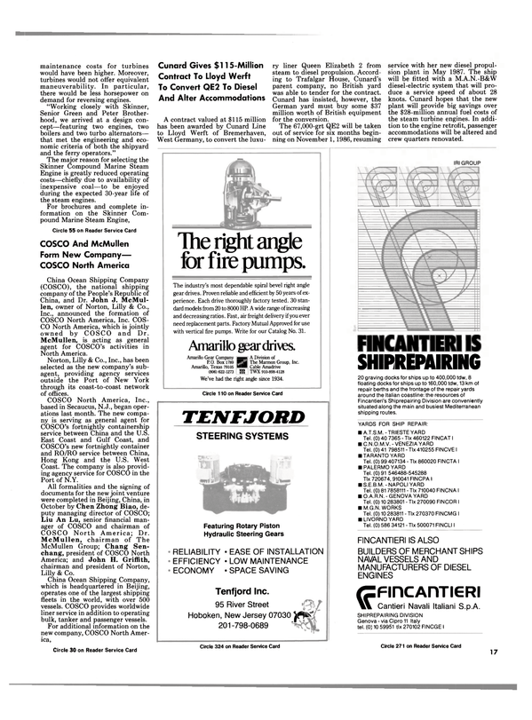 Maritime Reporter Magazine, page 17,  Dec 1985