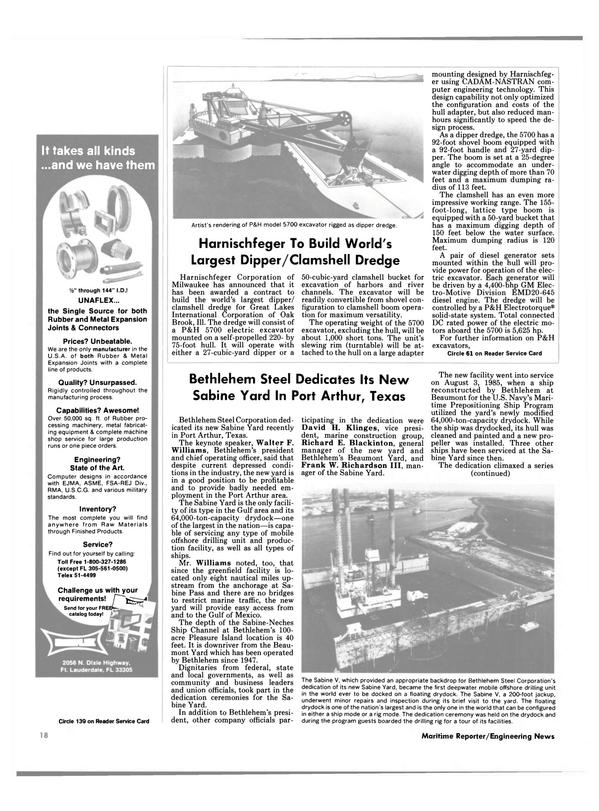 Maritime Reporter Magazine, page 18,  Dec 1985 Sabine-Neches Ship