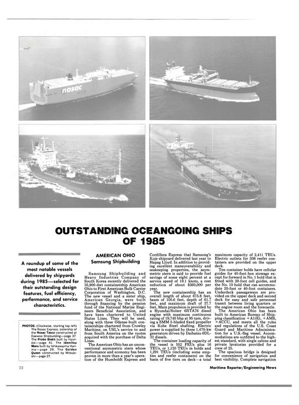 Maritime Reporter Magazine, page 22,  Dec 1985 Georgia