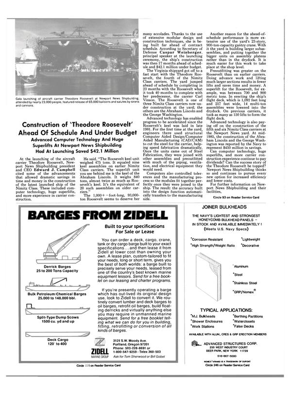 Maritime Reporter Magazine, page 50,  Dec 1985 CAD/CAM