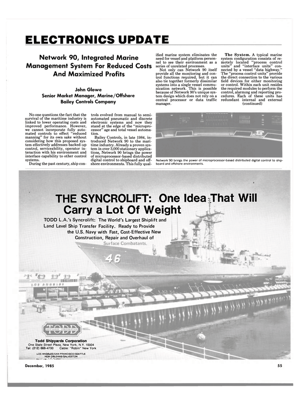 Maritime Reporter Magazine, page 55,  Dec 1985 Bailey Controls