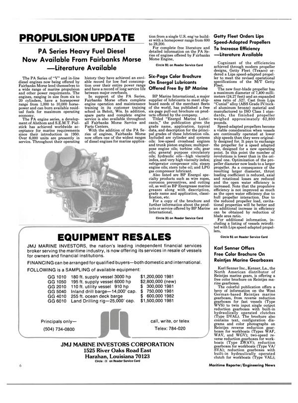 Maritime Reporter Magazine, page 4,  Dec 1985