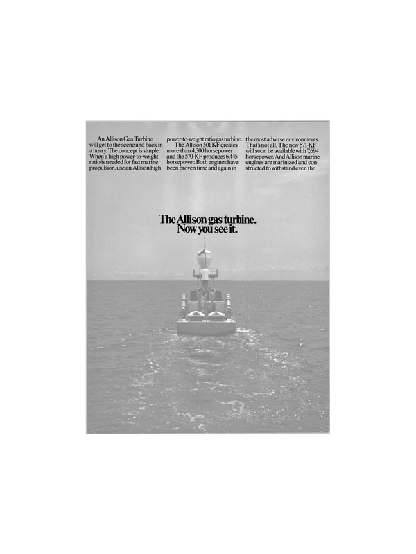 Maritime Reporter Magazine, page 8,  Jan 1986 gas turbine