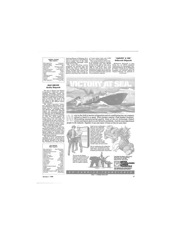 Maritime Reporter Magazine, page 15,  Jan 1986