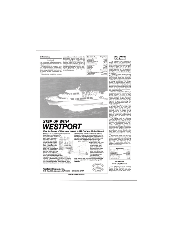 Maritime Reporter Magazine, page 20,  Jan 1986 Washington