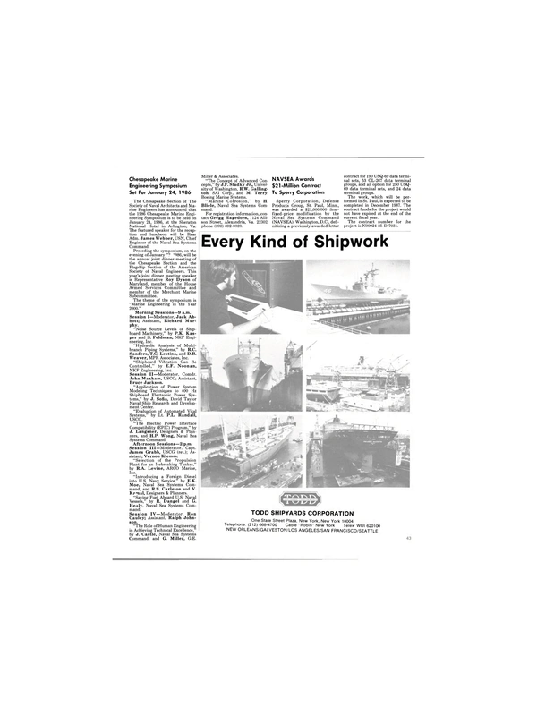 Maritime Reporter Magazine, page 41,  Jan 1986